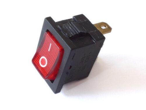 Wippschalter EIN//AUS Kippschalter 250V 6A 125V 10A AC CQC KCD1 rot beleuchtet