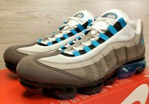 43c7c792cc3 Nike Air Vapormax 95 Grey Turquoise Black White Running AJ7292-002 ...