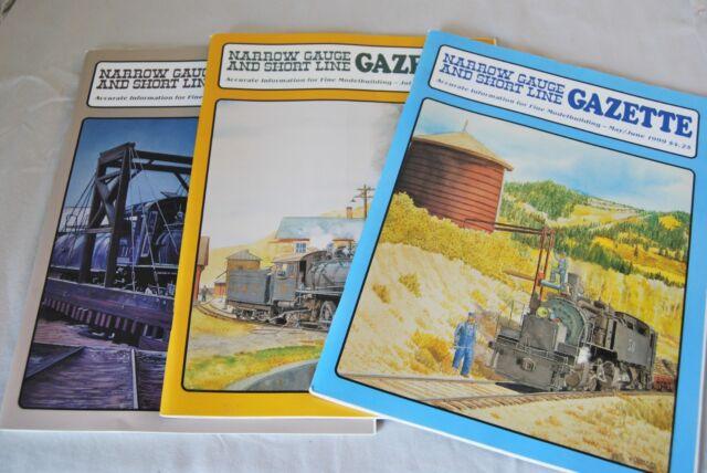 Narrow Gauge Shortline Gazette Magazines Three Parts 2-6-6