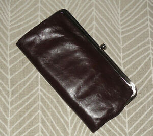 Hobo-International-Lauren-Leather-Clutch-DARK-BROWN-NWOT