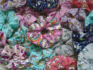 UNICORN-SCRUNCHIE-UNICORNS-HAIR-STYLING-SCRUNCHY-SCRUNCHIES-TIE-TIES-BAND-BANDS