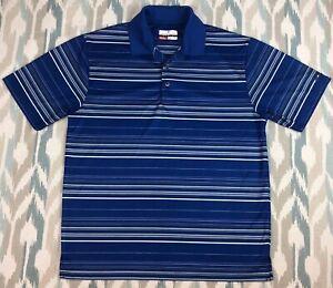Grand-Slam-Men-039-s-Short-Sleeve-Shirt-Blue-Golf-Polo-Size-L-Large