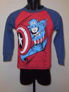 Neu Marvel Captain America Jugendgrößen S-m-l-2xl 6/7-8-10/12-18 Hemd T-shirts & Polos