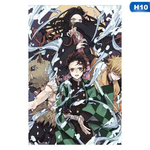 Anime Posters Demon Slayer Kimetsu No Yaiba Poster Wall Sticker Art Painting