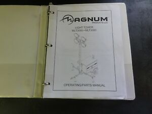 Magnum-Products-MLT3060-MLT3080-Light-Tower-Operating-Parts-Manual