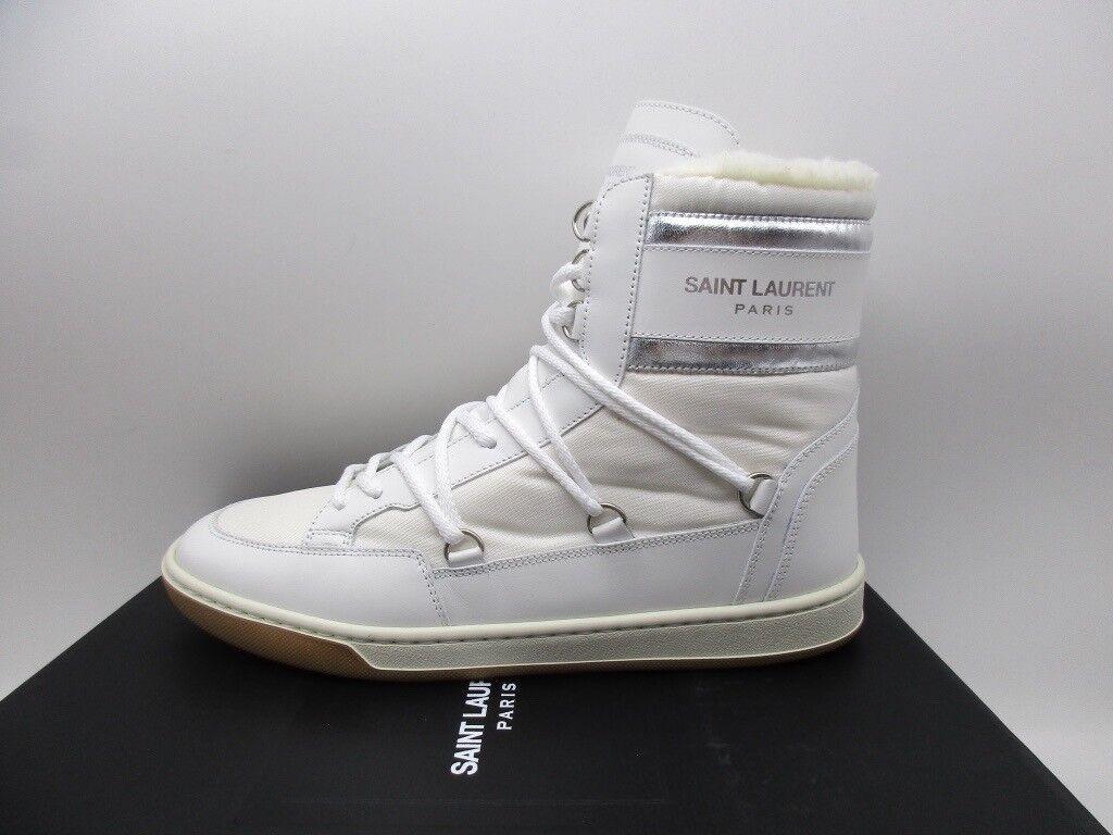 Saint Laurent Donna Classic Court bianca High Top Ski Scarpe da Ginnastica Wool 37 7