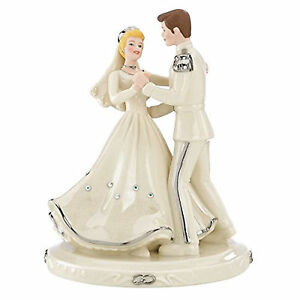 lenox disney princess cinderella and prince love figurine wedding