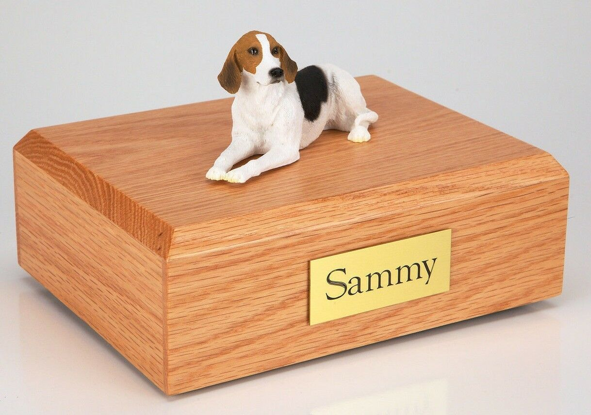 American Foxhound Pet Funeral Cremation Urn Avail in 3 Diff Farbes & 4 Größes