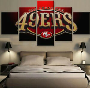 San-Francisco-49ers-Nation-5-pcs-Painting-Printed-Canvas-Wall-Art-Home-Decor