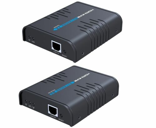 HDMI KVM Extender Converter Over Cat5//Cat6 Network 720P//1080P Up to 120M//394Ft