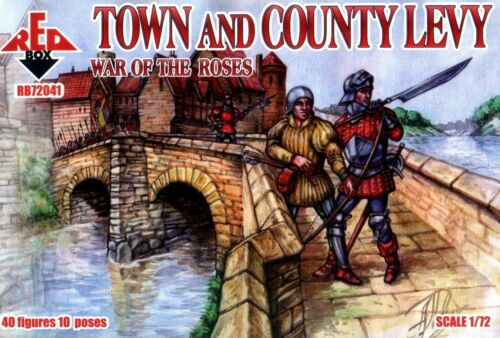 War Of The Roses Town And County Levy Plastic Model Kit Red Box 72041-1//72