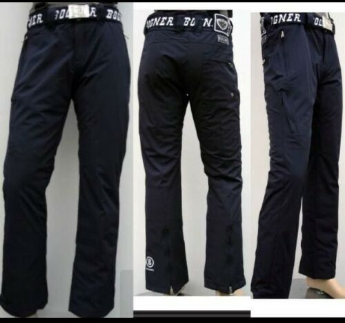 Nouveau Bogner Messieurs Ski Pantalon Bleu Taille XXL