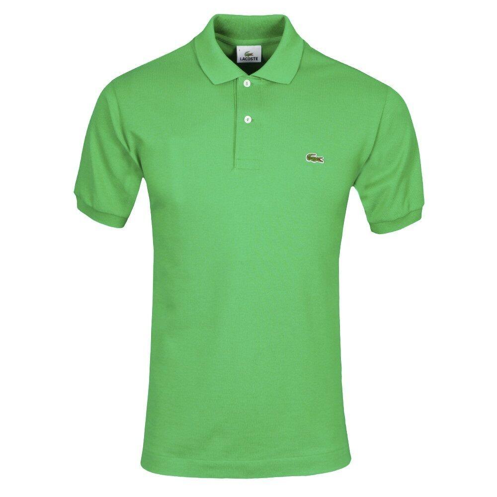 NWT LACOSTE Uomo BRAND Uomo LACOSTE verde L1212 CROC LOGO PIQUE POLO SHIRT maglietta TEE 71d5cf