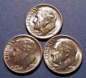 1962D Choice BU Roosevelt Dime from an original roll