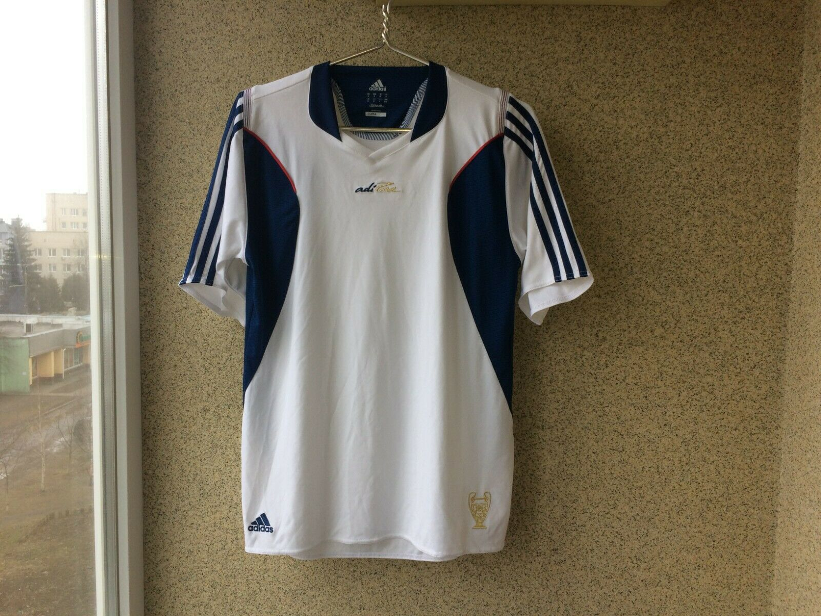 ADIPURE FOOTBALL SHIRT 2010 2011 JERSEY ADIDAS SOCCER CHAMPION LEAGUE RARE