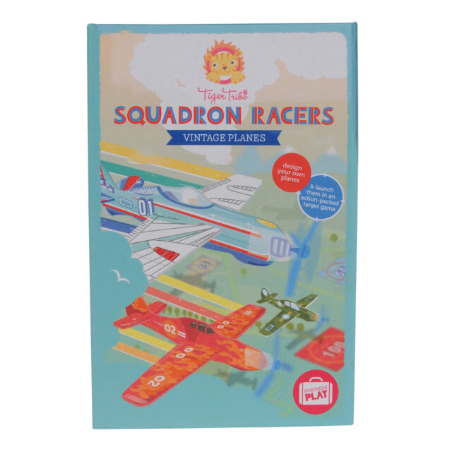 Brand New Tiger Tribe Squadron Racers Vintage Planes Art Craft Travel Activity