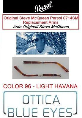 Aste Original Persol Pieghevole 0714 SM Folding Arms Steve McQueen black new