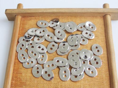 50Pcs Tibetan Silver Button For Wrap Bracelets 2mm Hole For 1.5mm