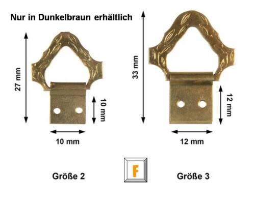 vermessingt Bildereinrahmung Barock-Klappösen zum Aufhängen von Zierteilen