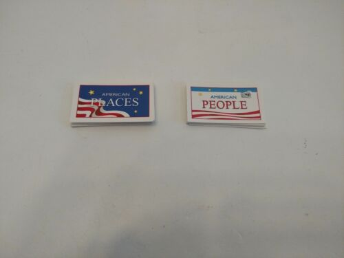 Monopoly America Special Edition Replacement Parts Places People Cards Complete