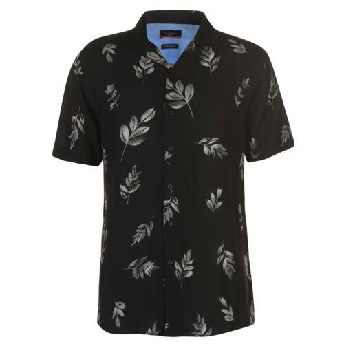Homme Pierre Cardin Palm Shirt à Manches Courtes Casual Nouveau