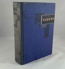 """""""Verdun"""" by Jules Romains. Hardcover First Edition Copyright 1939 WWI History"""