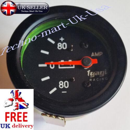 60MM  80-0-80 BAR AMMETER AMP METER DIAL GUAGE CAR VAN CLOCK BLACK M614- B