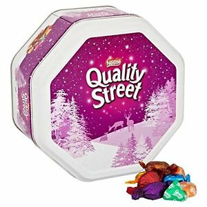 Delicious sweets in a variety of milk and dark chocolates and toffees. With 12 iconic sweets to choose from in the classic Quality Street assortment tub, create more magic moments for you and your family. (g, including wrappers) A variety types of your favourite iconic individually wrapped sweets. Delicious milk and dark chocolates, toffees, and fruit cremés.2/5.