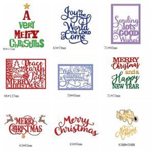 Christmas Words.Various Styles Merry Christmas Words Metal Cutting Dies Diy
