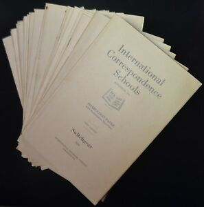 Details about INTERNATIONAL CORRESPONDENCE SCHOOLS Complete Box 19 Booklets  1st EDITION 1915