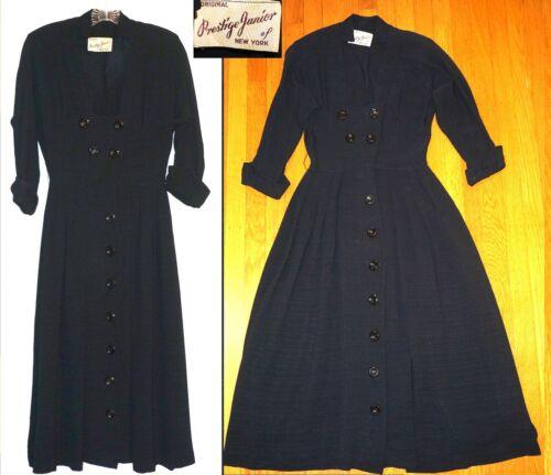 Vintage 40's PRESTIGE JUNIOR DRESS Vixen nipped wa