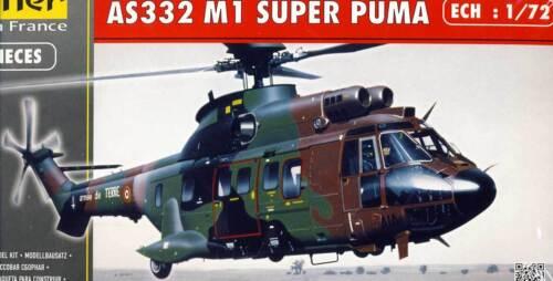 Heller Aerospatiale Super Puma AS332 M1 Modell-Bausatz 1:72 Schweiz France kit
