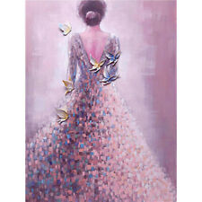 DIY 5D Diamond Painting Full Drill Kits for Adults,Butterfly Red Wedding Dress D