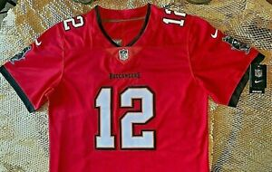 2020-Tampa-Bay-Buccaneers-Tom-Brady-12-Red-Stitched-Game-Jersey-XL