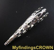 80 Pcs Silver plated filigree cone bead caps 41mm