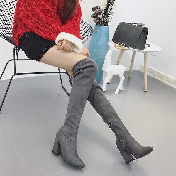 stivali stivaletti grigi morbidi ginocchio coscia tacco 10 cm stiletto alti 9610