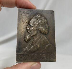 1912 Belgian Bronze Medal Professor Hector Denis, De Rudder -  81248