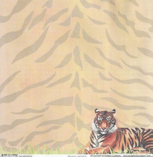 Scrapbook Customs Tiger Scrapbooking Paper 38142 Zoo Safari Ebay