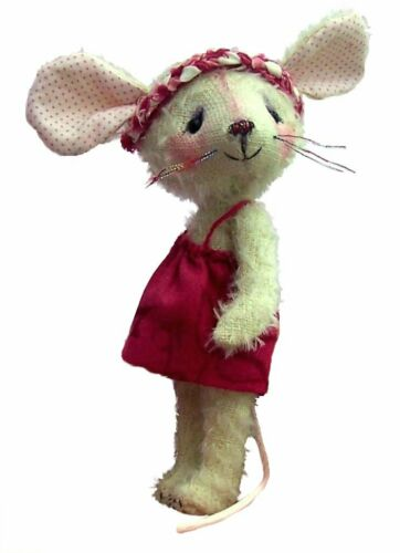 15cm Cute 6 inch Carrie mouse soft toy sewing pattern mice to sew