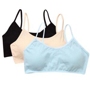 0d2f017c98090 Girls Cotton Bra Soft Crop Top Teens Camisole Intimates Underwear ...
