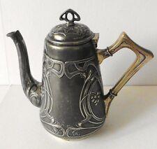 WMF Kaffeekanne - coffee pot - STRAUßENMARKE Jugendstil um 1900 - RAR