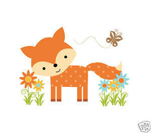 Woodland Fox Wall Mural Decal Baby Nursery Forest Animal Friends Art Stickers