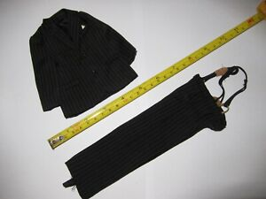 1-6-Scale-Man-Black-Stripe-Suit-set-for-12-034-Action-Figure-Toys