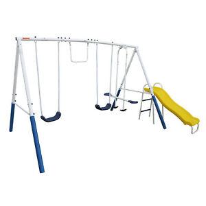 XDP-Recreation-Blue-Ridge-Play-Outdoor-Backyard-Playset-Kids-Swing-Set-w-Slide