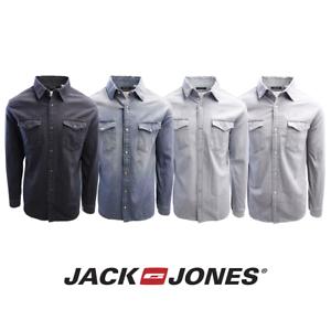 Jack-amp-Jones-Men-039-s-Sheridan-Slim-Fit-Long-Sleeve-Denim-Shirt