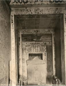 Schroeder-Egypte-Thebes-Tombeau-de-Ramses-IV-Vintage-print-Photomecanique