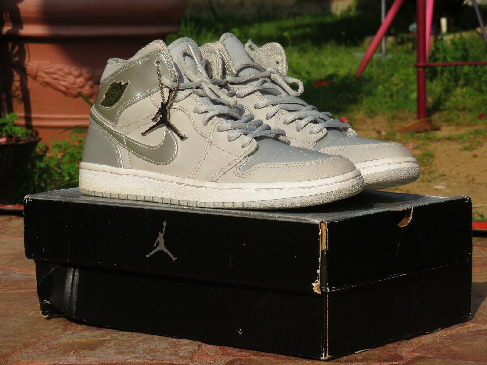 Air Jordan Retro 1 Neutral Grey Size 10 Men Rare 2001 Pre Owned 136065-001