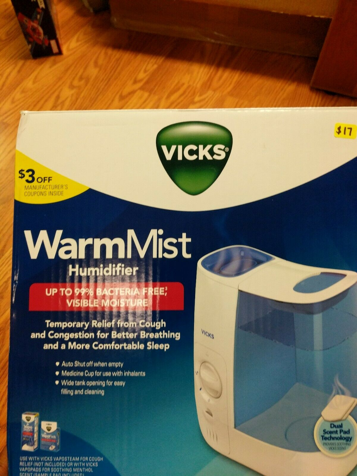 Vicks Warm Mist Humidifier 1 Gallon VWM845 Filter