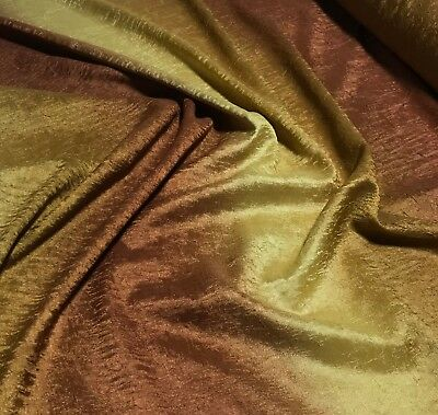 """Ombre Gold Silver Crushed Tergalet Fabric Polyester 108/"""" wide"""