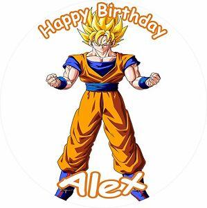 "DRAGONBALL Z SUPER SAIYAN 8"" BIRTHDAY ICING CAKE TOPPER | eBay"